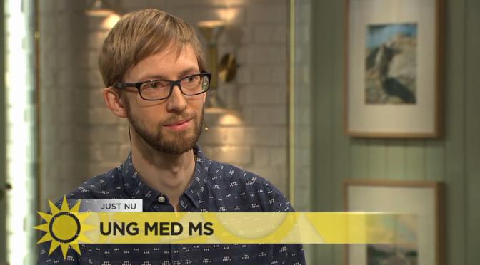Ung med MS i Nyhetsmorgon på TV4
